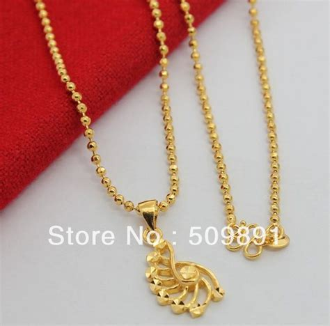 Kalung New Fashion Jewelry Gold Chain Necklace Pendant B 1 aliexpress buy nec1507 sale gold chain