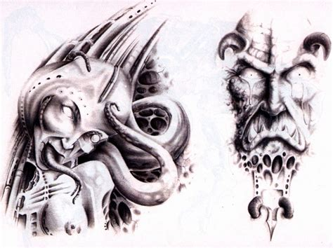 collection of 25 evil monster skull tattoo designs