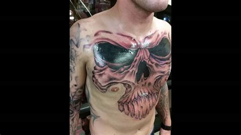 bay city tattoo skull cover up by jeffrey ziozios at