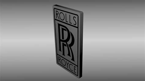 rolls royce engine logo rolls royce logo free 3d model obj blend cgtrader com