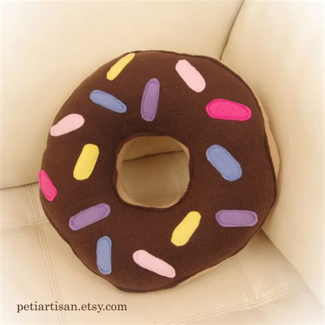 doughnut pillow donut pillow food pillow chocolate frosted