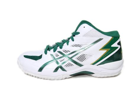 green basketball shoes asics basketball shoes asics gelhoop v6 tbf309 0184 white