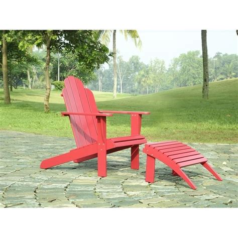 adirondack chair and ottoman adirondack chair and ottoman in 21150red 01 kd u