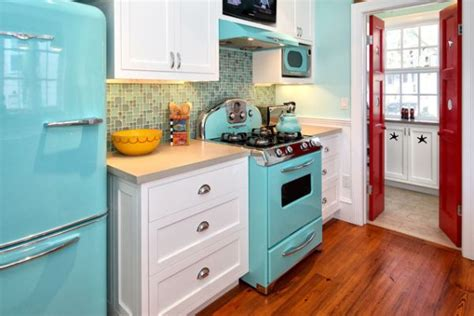 turquoise kitchen appliances eye catching kitchen appliances a fun and colorful way of
