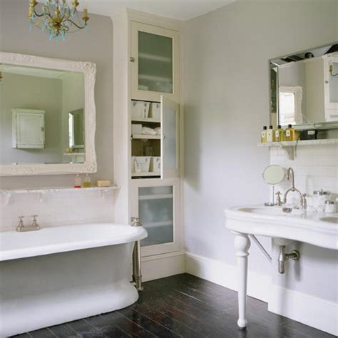 bathrooms with grey walls an english bathroom with dark floors and light gray walls