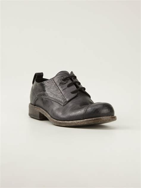 Oxford Black Shoes lyst diesel black gold distressed oxford shoes in black for
