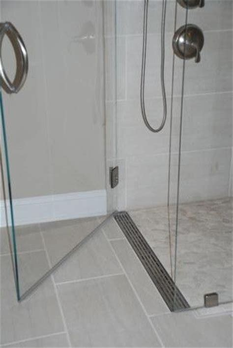 Linear Drain Shower Pan by Shower Pan Curbless Shower With A Linear Drain At The
