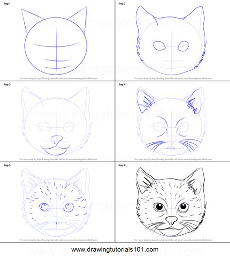 how to draw doodle cat how to draw a cat printable step by step drawing