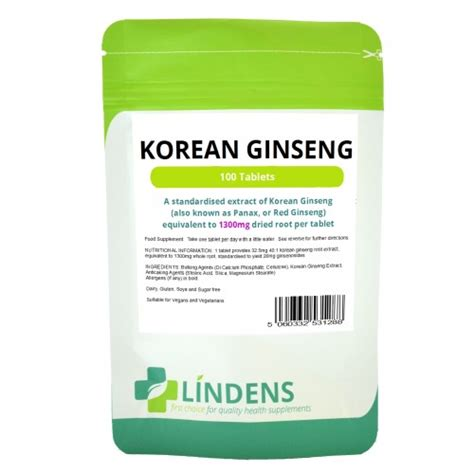Ponds Detox With Korean Ginseng Review by Lindens Korean Ginseng 1300mg