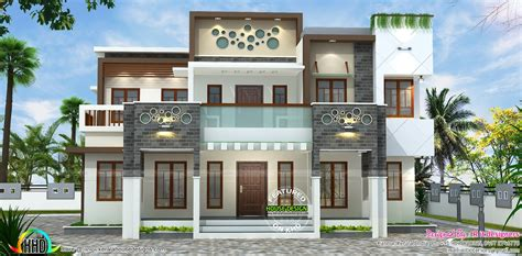 modern house plan kerala modern kerala house plans with photos 1015