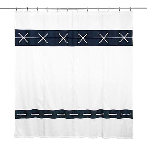 Criss Cross Curtains Buy Criss Cross Fabric Shower Curtain From Bed Bath Beyond