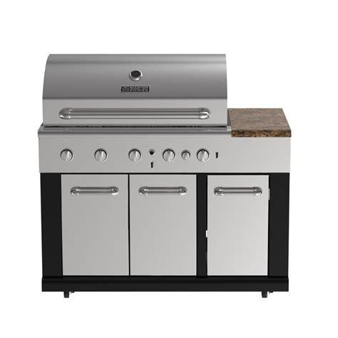Kitchen Islands With Stoves by Shop Master Forge 6 Burner Modular Gas Grill At Lowes Com