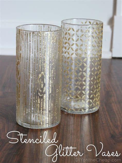 Glitter Sticks For Vases by Stenciled Glitter Vases Erin Spain