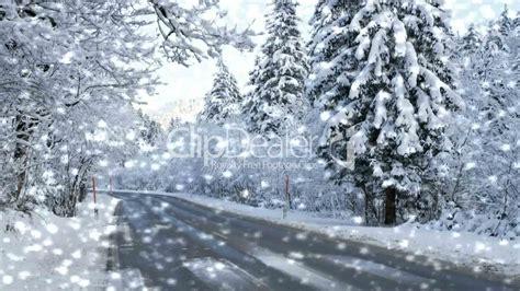 strasse im winter mit schneefall street winter  snow royalty  video  stock footage