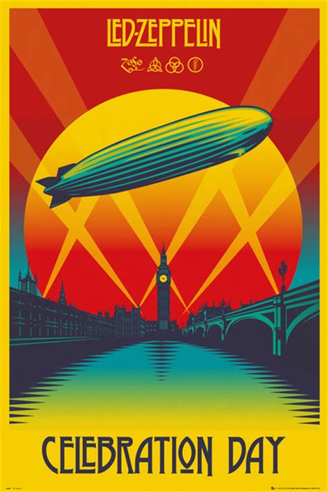 Next Doormat Led Zeppelin Celebration Day Poster Sold At Europosters