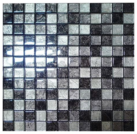 silver mosaic tiles bathroom w25 silver grey foil glass mosaic contemporary tile