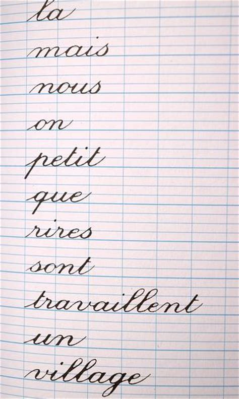 french writing book