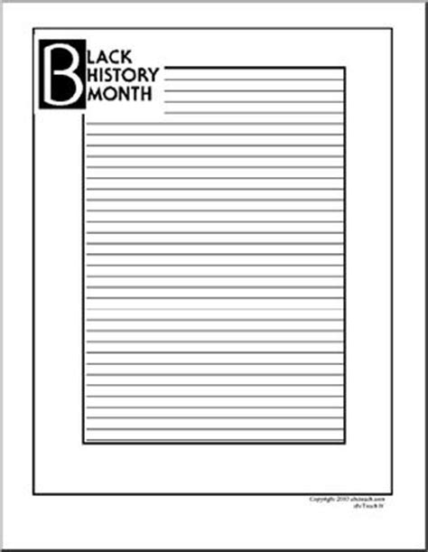 black writing paper writing paper black history month abcteach