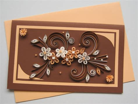 Handmade Sheet Greeting Cards - quilling card s day card paper handmade
