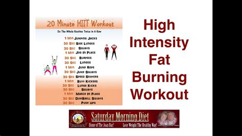 burn belly with high intensity 20 minute workout