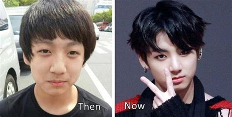 bts plastic surgery jungkook bts plastic surgery before and after photos