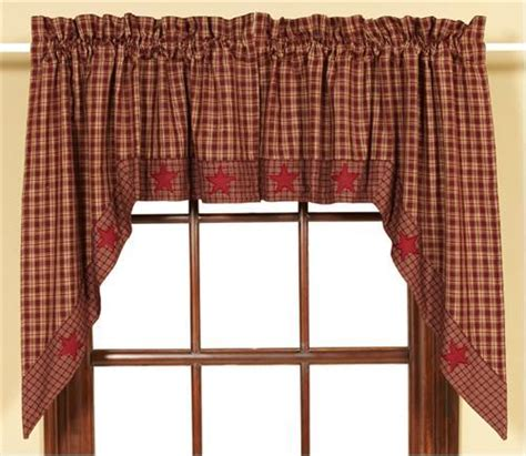 country star curtains french country new curtain ruffled burgandy star bed