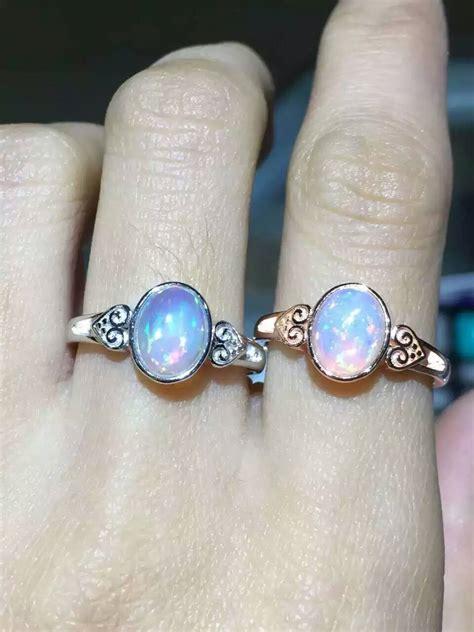 natural gemstone rings sterling silver natural transparent opal stone ring natural gemstone ring