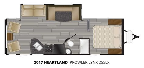 heartland travel trailer floor plans 2017 heartland prowler lynx 255lx travel trailer stock