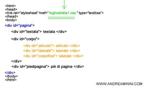 link interni html come fare un sito web in css andrea minini