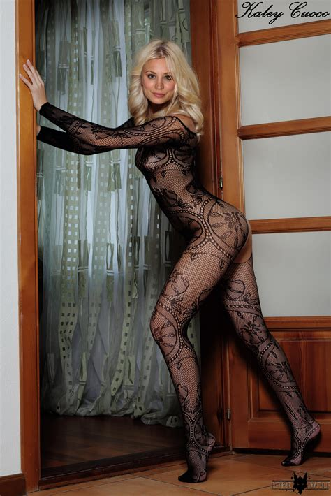kaley cuoco fakes famousboard page 2 kaley cuoco in a sexy black lace body stocking