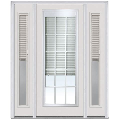Blinds For Front Doors Mmi Door 64 In X 80 In Blinds And Grilles Right Lite Classic Painted Steel