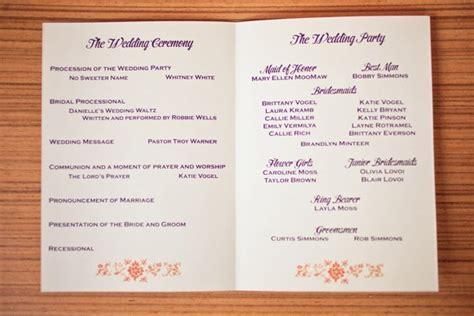 programs for wedding invitations chebria s wedding invitation wedding program tags