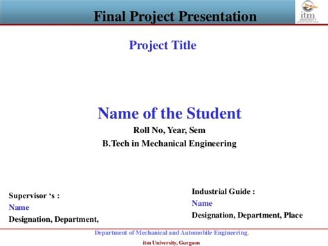 Project Presentation Template Project Presentation Template Ppt