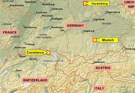 map of southern germany and switzerland map of switzerland and germany daniel radcliffes