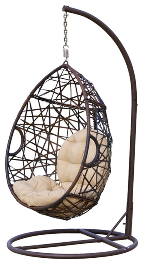 swinging egg chairs berkley outdoor swinging egg chair contemporary