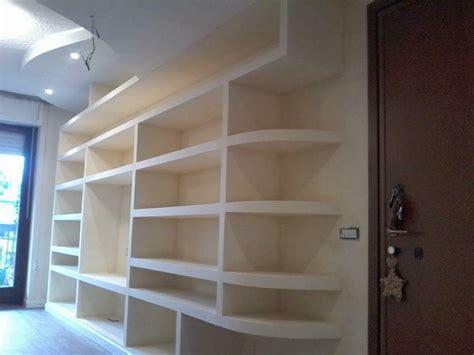 libreria cartongesso e legno librerie in cartongesso edile cartongesso