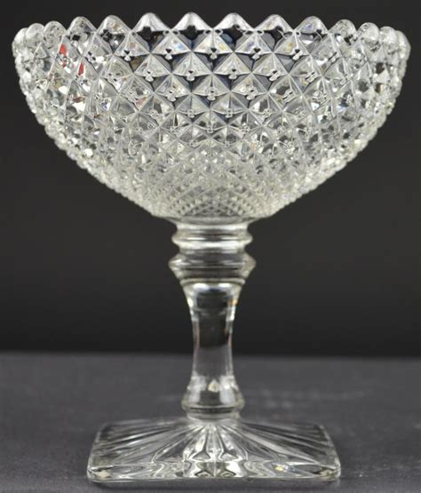 english hobnail pattern westmoreland glass english hobnail round compote