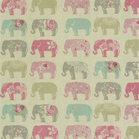 kissen pastell rosa clarke clarke baumwollstoff elefanten pastell rosa