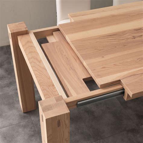 tavolo da pranzo allungabile in legno massello fino a 260