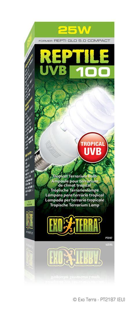 Exoterra Uvb 150 25w exo terra reptile uvb100 tropical terrarium bulb