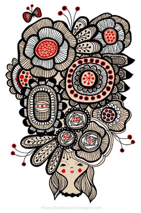doodle flora draw zentangle doodle pattern doodles