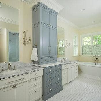 two tone bathroom cabinets two tone bathroom cabinets transitional bathroom