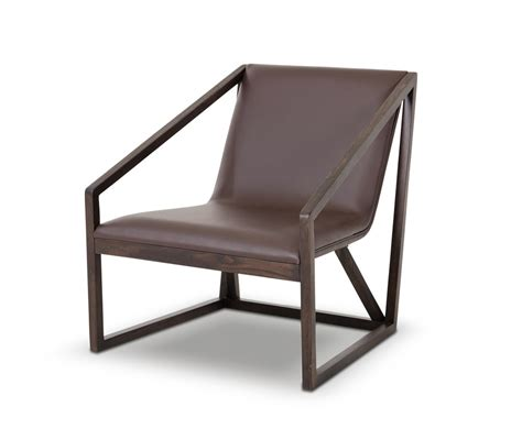 Lounge Chair by Taranto Modern Brown Leather Lounge Chair