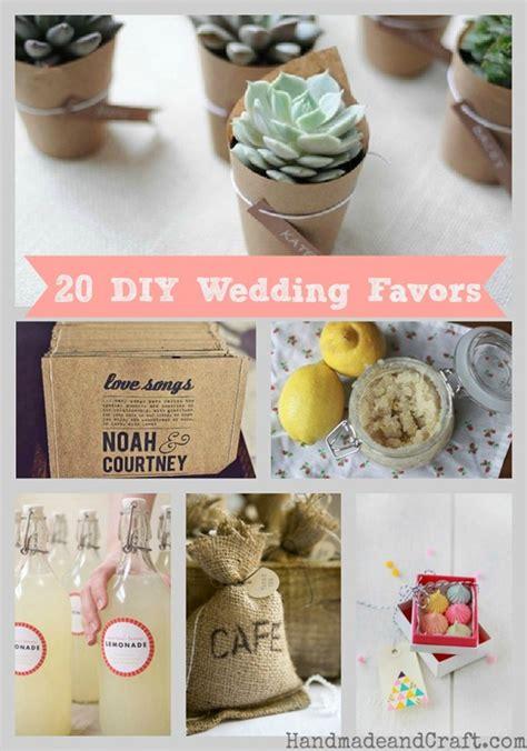 20 diy wedding favors handmadeandcraft com