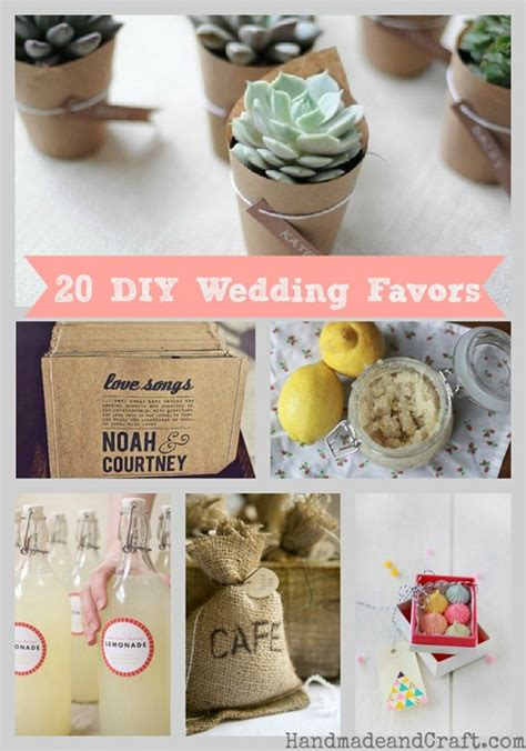20 diy wedding favors