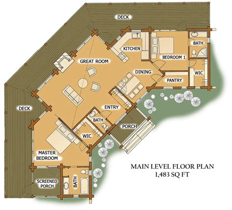 Log Cabins Designs And Floor Plans by Pinefalls Main Large Log Cabin Designs And Floor Plans