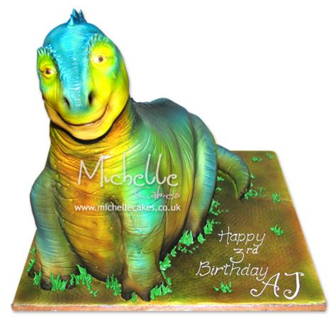 template for 3d dinosaur cake appendages party