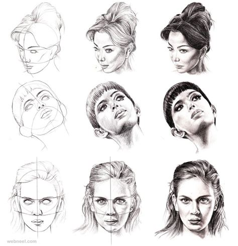 drawing hairstyles pdf how to draw a face 25 step by step drawings and video