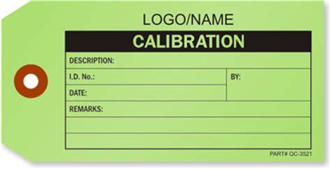 Calibration Labels Calibration Quakity Control Labels Calibration Label Template