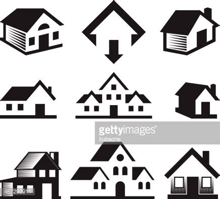 white house realty house and real estate black white royaltyfree vector arts vector art getty images